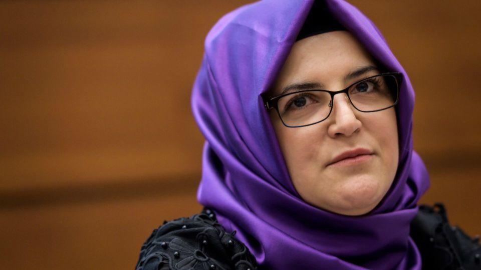 Hatice Cengiz, novia del asesinado periodista y disidente saudita Jamal Khashoggi