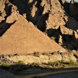 La pirámide, geoforma de la Quebrada de La Troya.