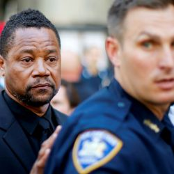 Cuba Gooding Jr. dejando la Corte Criminal de New York
