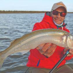 Pescamos pejerreyes en Claromecó.