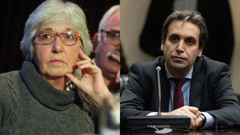 La ex jueza y presidenta de Justicia Legítima, María Laura Garrigós de Rébori, y el juez Alejo Ramos Padilla.