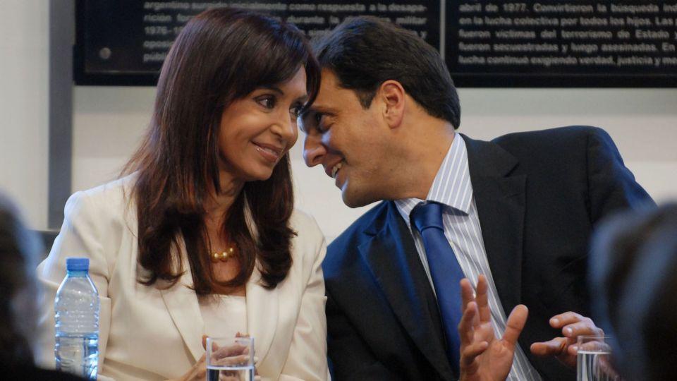 Cristina Fernández de Kirchner junto a quien fuera su ex jefe de Gabinete, Sergio Massa.
