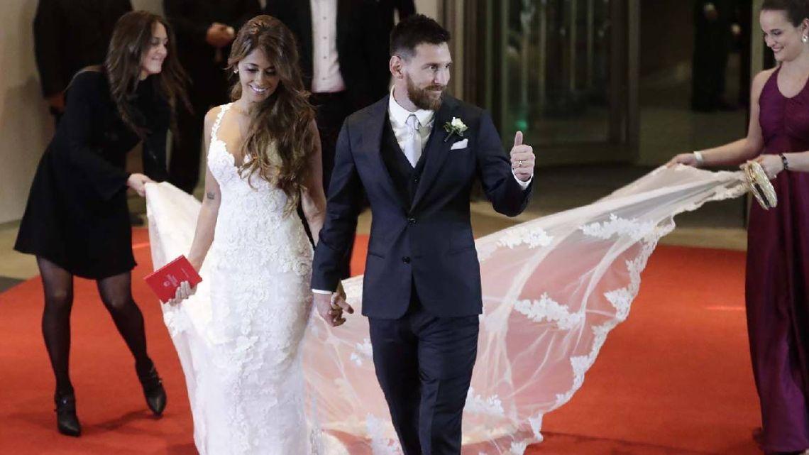 Leo Messi y Anto Roccuzzo dieron el sí en 2017.