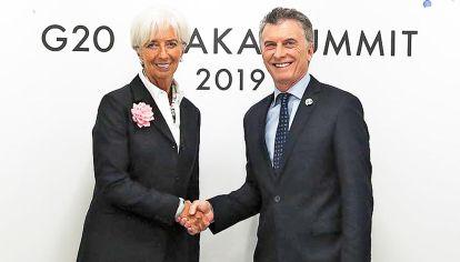 Aval. Tras la reunión de Lagarde y Macri, los estímulos electorales tienen el visto bueno del FMI.
