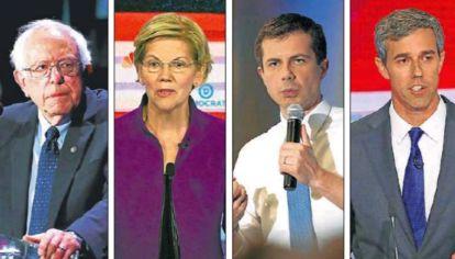 Sanders, Warren, Buttigieg y O'Rourke impulsan políticas equitativas.
