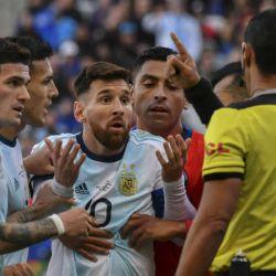 Messi expulsado