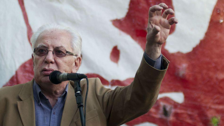 El fundador del Partido Obrero (PO), Jorge Altamira.