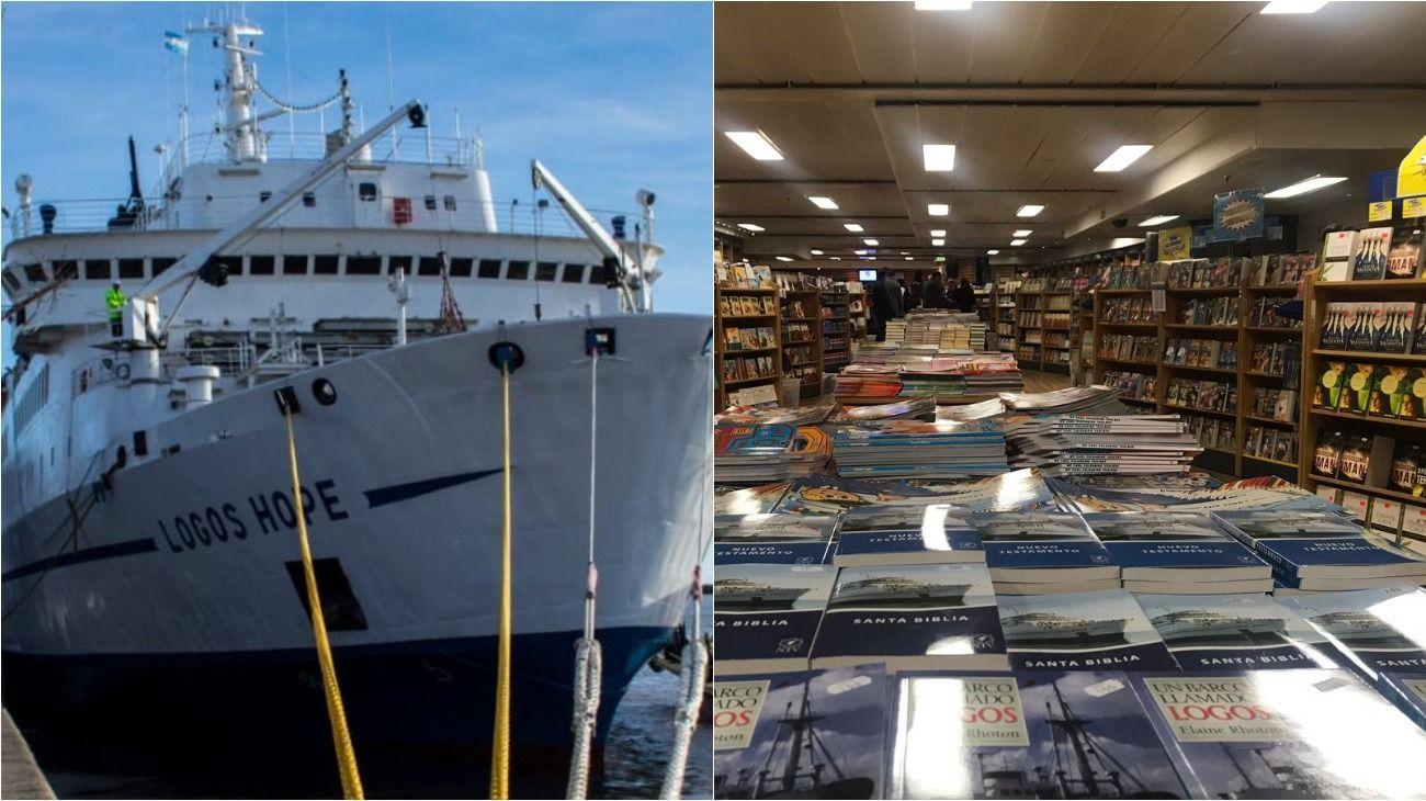 """Autodenominada como """"la librería flotante más grande del mundo"""", este barco es operado por GBA Ships."""