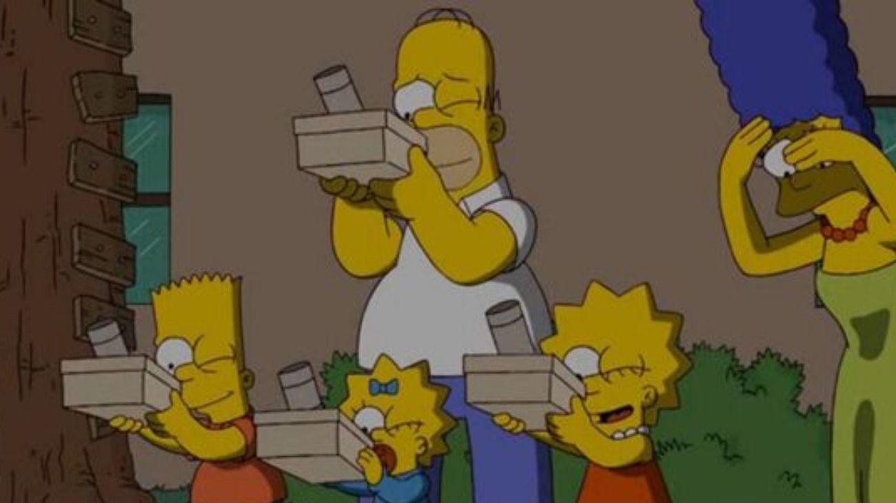 Como ocurre habitualmente, los personajes de Los Simpson fueron de los elegidos para los memes sobre el eclipse solar de este 2 de julio.