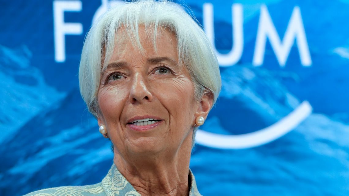 International Monetary Fund Managing Director Christine Lagarde, attends a session of the annual meeting of the World Economic Forum in Davos, Switzerland.