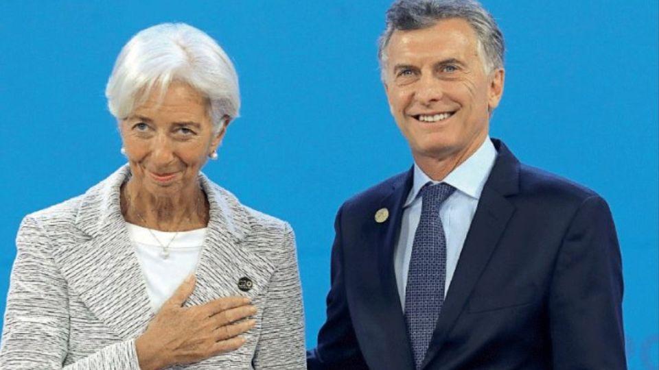 Christine Lagarde junto a Mauricio Macri.