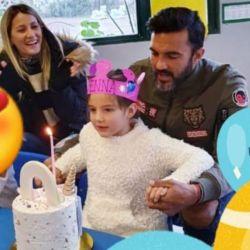 Cubero le celebró los 5 años a Sienna con Mica Viciconte mientras Nicole está en Maimi