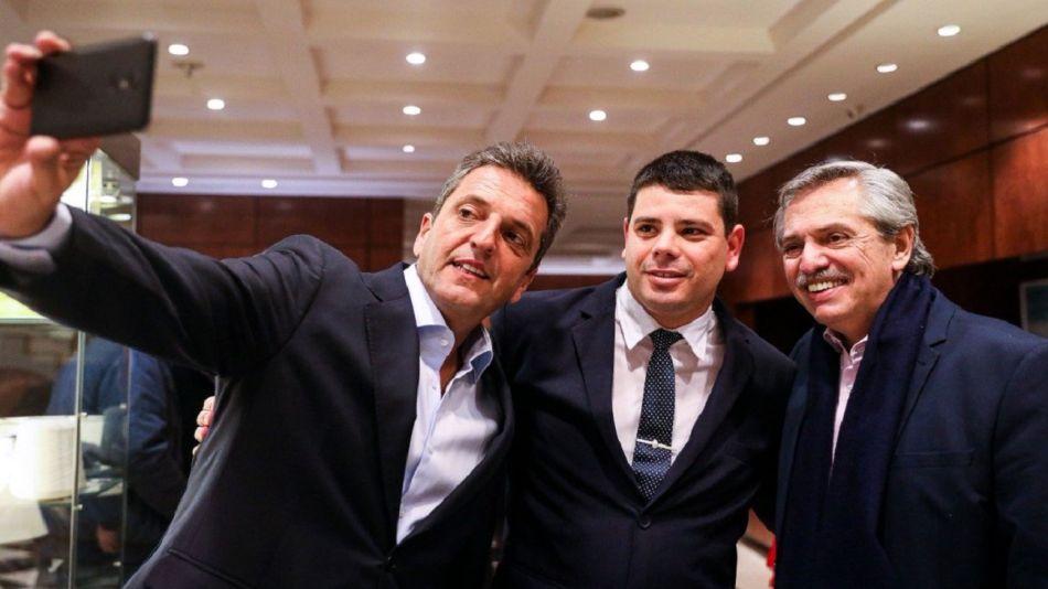 Sergio Massa y Alberto Fernández en reunión con el Frente Renovador.