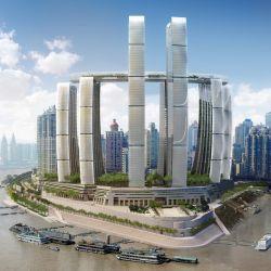 The Crystal es un rascacielos horizontal de 260 metros de altura de la ciudad china de Chongqing.