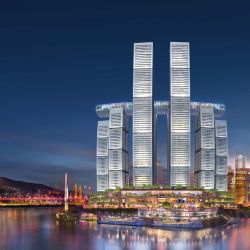 La apariencia de la ciudad china de Chongqing cambiará radicalmente a partir de este edificio horizontal.