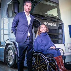Andrés Leonard, CEO de Scania Argentina y la vicepresidenta de la Nación, Gabriela Michetti Scania Argentina.
