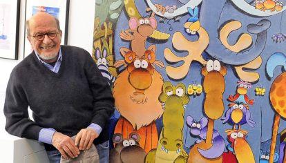 Mordillo. A principio de los años 60 se trasladó a París. Como no dominaba el francés, prefirió hacer humor mudo.