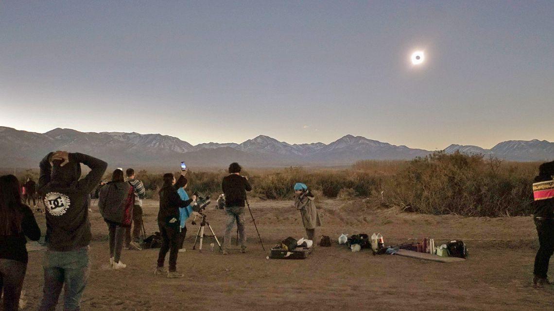 The solar eclipse.