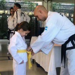 Antonia Macri practicando Taekwondo