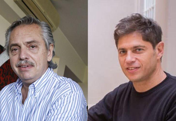 Alberto Fernández y Axel Kicillof.