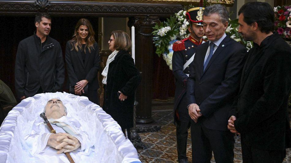 Macri y Juliana en el velorio de Fernando De La Rúa 20190709