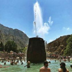 El parque de agua de Cacheuta ofrece, en verano un pileta de olas.