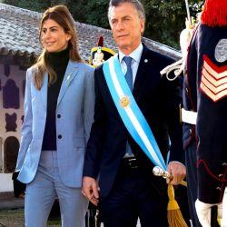 Juliana Awada en los festejos por los 203 años de Independencia