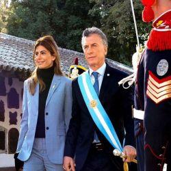 Juliana Awada y Mauricio Macri, en Tucuman.