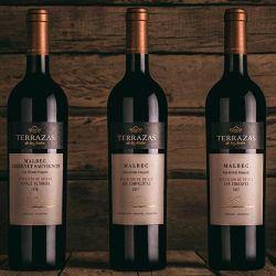 """Terraza de los Andes. Nueva línea de vinos """"Apelación de Origen""""."""