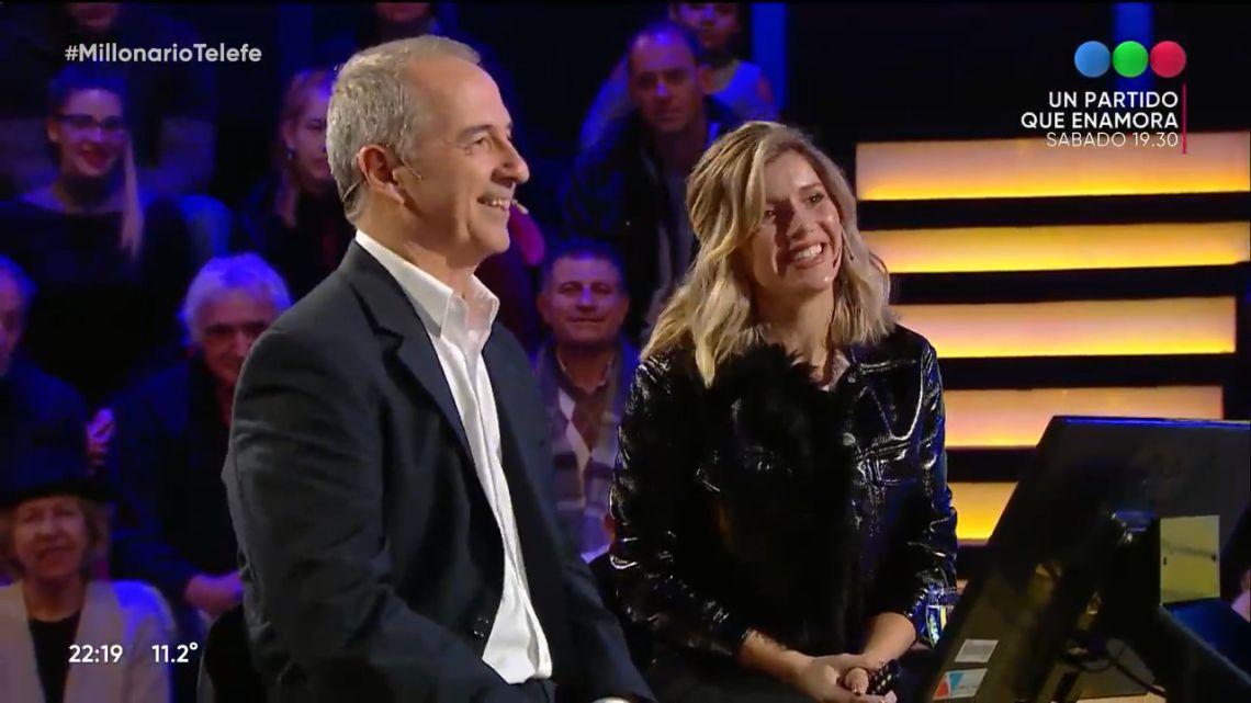 Laurita Fernández y su papá