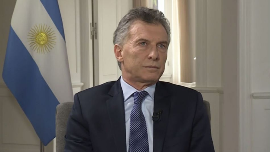 Mauricio Macri, durante la entrevista con CNN