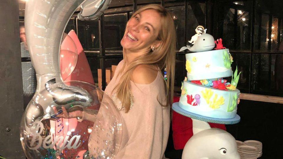 La súper panza de la mujer de Marcelo Gallardo a días de ser mamá