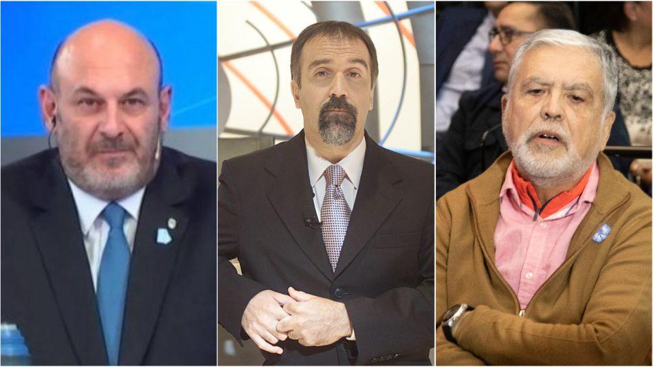 Candidatos. Santiago Cuneo, Claudio Morgado y Julio De Vido.