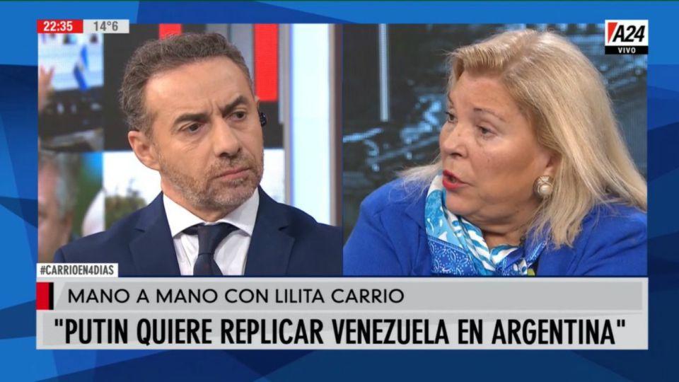 Elisa Carrió con Luis Majul