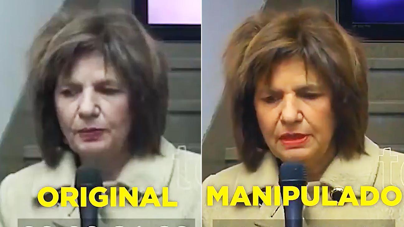 Bullrich. La ministra de Seguridad fue ridiculizada por su peinado. Eso es violencia simbólica y mediática.