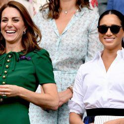 Meghan Markle y Kate Middlenton juntas dieron cátedra de estilo en Wimbledon