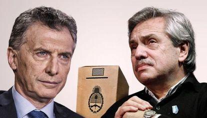 A TODO O NADA. Tanto Macri como Fernández apuestan a ganar en primera vuelta.