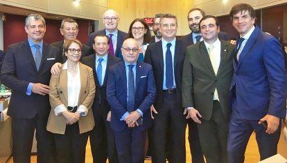 Equipo. Los negociadores con Bruselas de la cancillería argentina.
