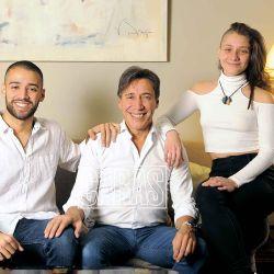 Fabián Gianola en familia