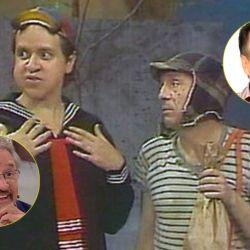 Villagrán y Chespirito como Quico y El Chavo