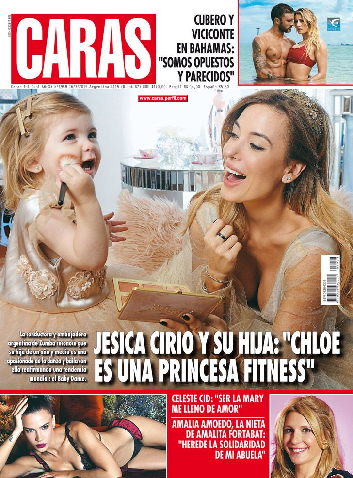 """Jésica Cirio y su hija: """"Chloe es una princesa fitness"""""""