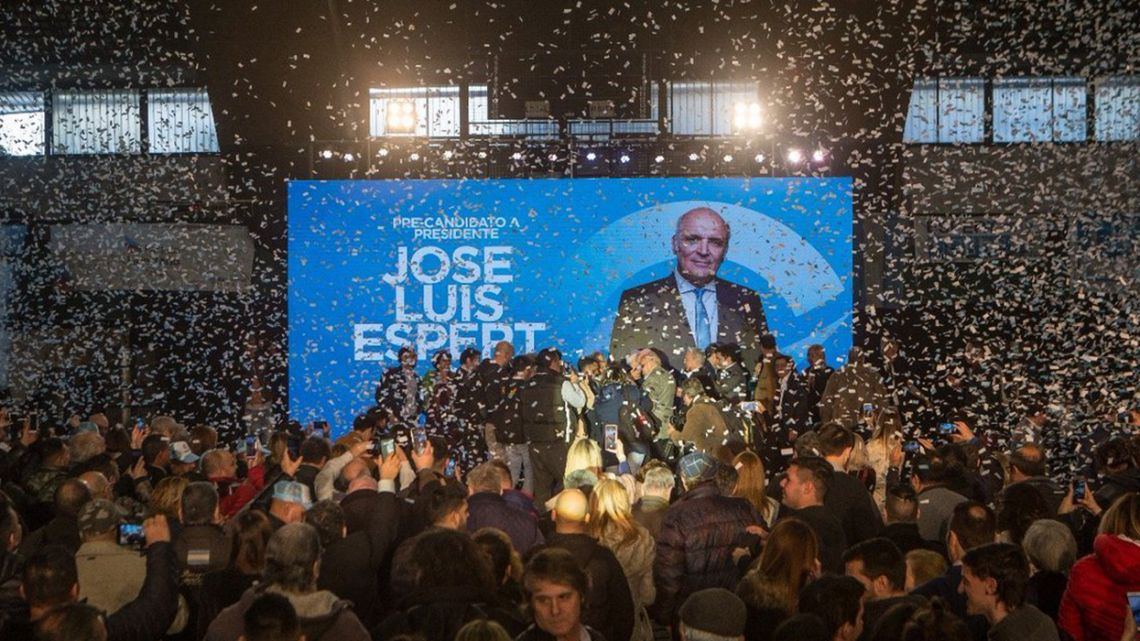 The official launch of José Luis Espert's presidential run on July 14, 2019.
