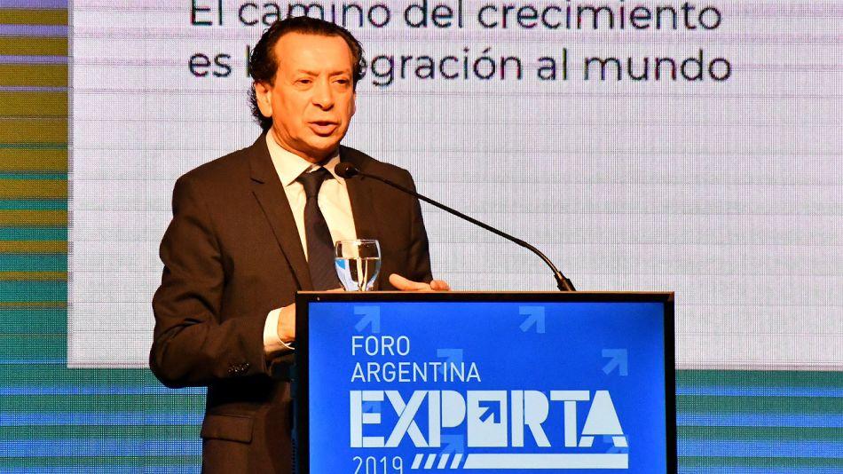 Dante Sica durante el segundo encuentro de la región Centro de Argentina Exporta, en Córdoba.