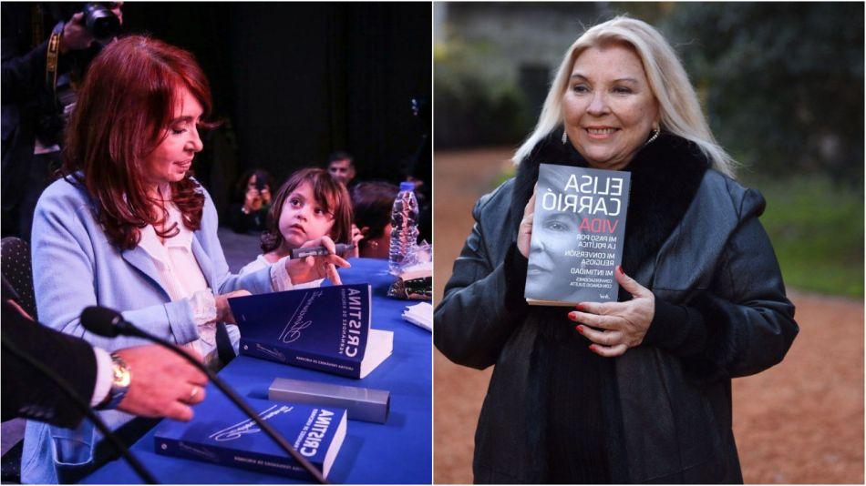 Sinceramente y Vida, los libros de Cristina Kirchner y Lilita Carrió.