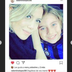 Wnada compartió un mensaje de Valentino