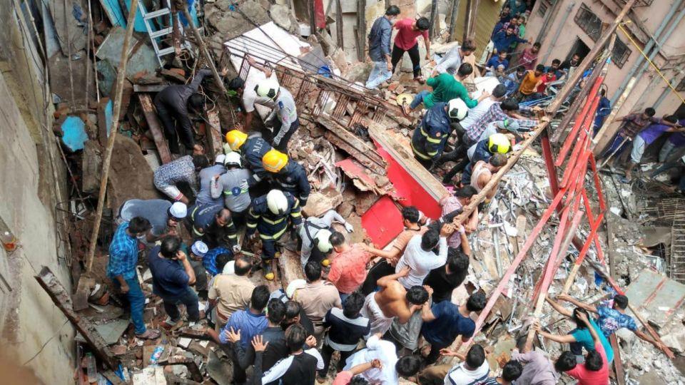 derrumbe edificio india