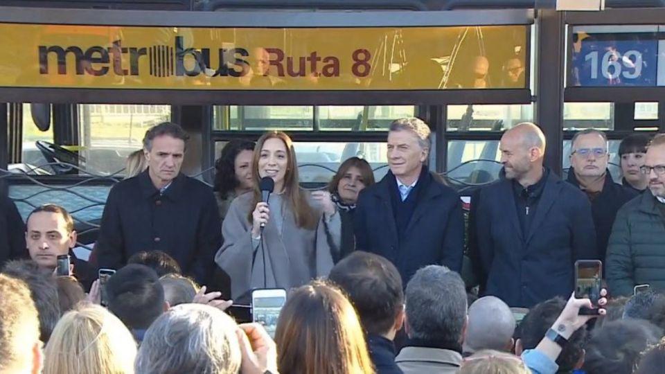 Inauguración del Metrobus de San Martín. 16072019