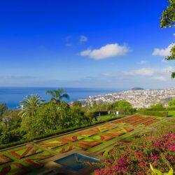 Adelante, un orden artístico. Detrás, el Atlántico. Así es el jardín botánico en Madeira.