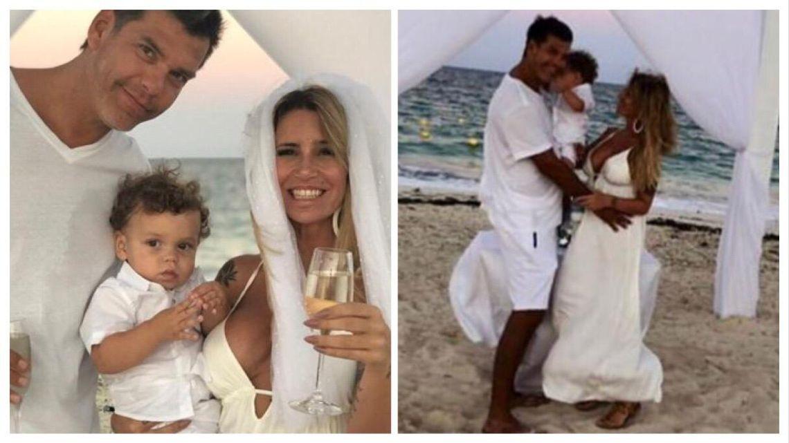 Flor Peña se casó en Cancún con Ramiro Ponce de León