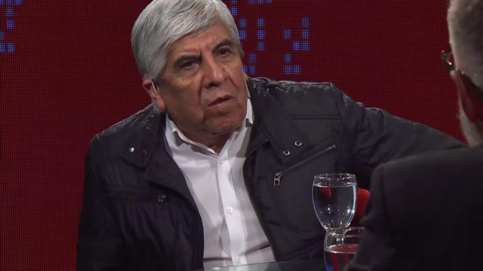 Hugo Moyano en una entrevista en el programa de Luis Novaresio.
